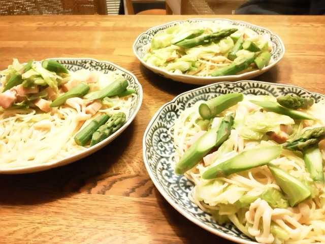 たっぷり春野菜のパスタ!!