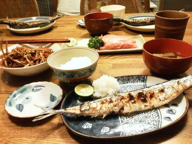 うちご飯(旬秋刀魚!<br />  )