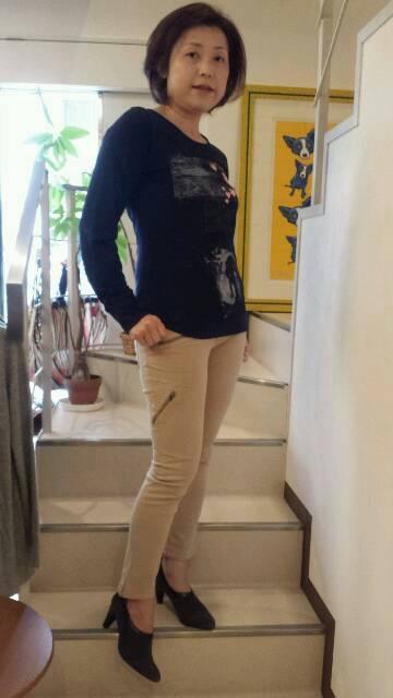 アンクル丈春色パンツ