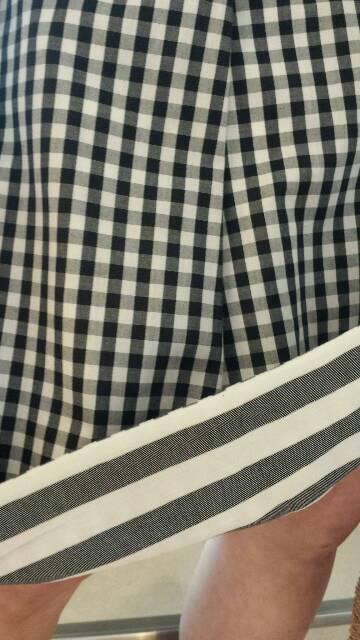 『グレースバーンズ』麻ニット+『ヴェロフォンナ』リバーシブルスカート