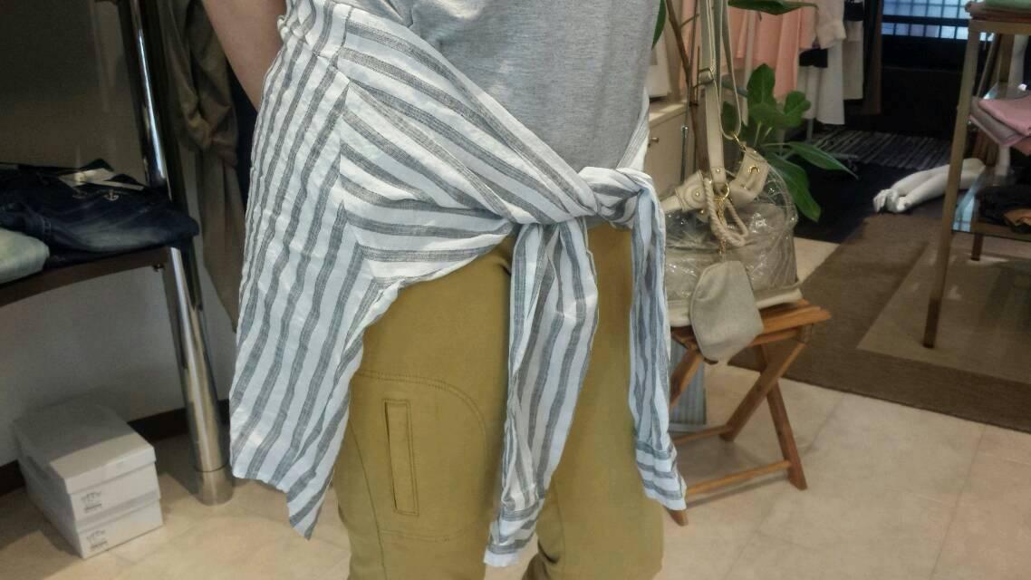 シャツ巻きカットソー